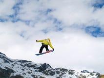 Salti con una neve Immagini Stock