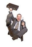 Salti l'uomo d'affari Fotografie Stock