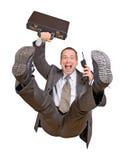 Salti l'uomo d'affari Fotografia Stock Libera da Diritti