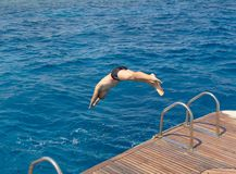Salti nel mare Immagini Stock Libere da Diritti