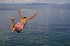 Salti nel mare Immagine Stock