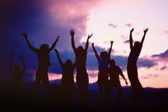 Salti per la gioia A Fotografia Stock Libera da Diritti
