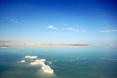 Saltiest sea in the world. Dead Sea landscape pretty clean in the summer day Royalty Free Stock Photo