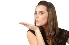 Saltilo un bacio Fotografie Stock Libere da Diritti