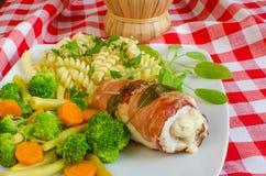 Saltimbocca κοτόπουλου Στοκ εικόνες με δικαίωμα ελεύθερης χρήσης