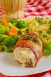 Saltimbocca κοτόπουλου Στοκ Εικόνες