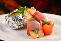 Saltimbocca - итальянский speciality стоковое изображение rf