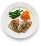 Saltimbocca alla romana, italian cuisine Royalty Free Stock Photography