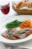 Saltimbocca alla romana, italian cuisine Royalty Free Stock Image