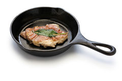 Saltimbocca alla romana on skillet Stock Image