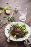 Saltimbocca da galinha imagem de stock royalty free