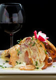 Saltimbocca. Delicious Chicken Saltimbocca with prosciutto and cheese sauce. More yummy pics in my gallery Stock Images