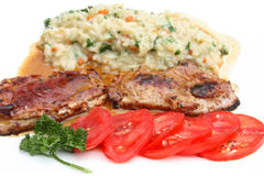 Saltimbocca and risotto Royalty Free Stock Image
