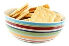Saltine crackers Stock Photo