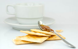 Saltine crackers and jam Stock Images