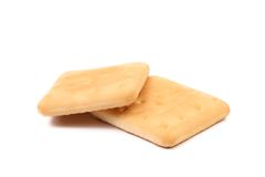 Saltine soda cracker isolated on white Royalty Free Stock Image