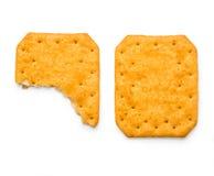 Saltine soda cracker isolated on white Stock Images