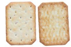 Saltine soda crackers isolated on white background Stock Photography