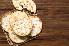 Saltine or Soda Crackers Royalty Free Stock Image