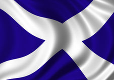 Saltire flag. Flag of Scotland, UK. Refered to as the Saltire flag or the St Andrews Cross Stock Images