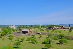 Salto,乌拉圭, 2018年1月06日:与氢结合的电电能源厂,里约乌拉圭Embalse萨尔托格兰德, Salto 库存照片