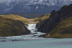 Salto большое, национальный парк Torres del Paine, Чили Стоковые Фото