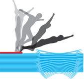 Salto. ilustração stock