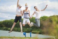 Salto! Fotografia de Stock Royalty Free