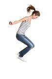 Salto adolescente da menina. Fotografia de Stock Royalty Free