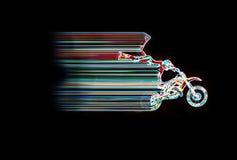 Salto al neon di Moto Immagini Stock