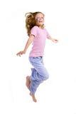 Salto, alegría, menor Fotografía de archivo libre de regalías