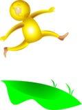 Salto allegro illustrazione vettoriale