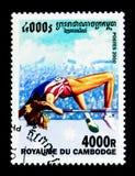 Salto in alto, serie dei giochi olimpici, circa 2000 Immagine Stock
