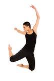 Salto apto del bailarín Imagen de archivo libre de regalías