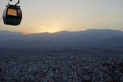 Salto, Argentina z wierzchu wzgórza cablecar/- obraz royalty free