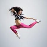 Salto atlético da dança da menina imagem de stock royalty free