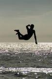 Salto atletico fotografia stock