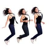 Salto atractivo de la chica joven Fotografía de archivo