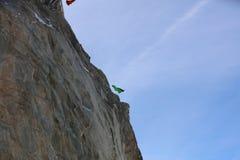 Salto BAJO de Wingsuit Imagenes de archivo