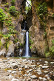 Salto Cabritos瀑布,圣地米格尔,亚速尔群岛 图库摄影