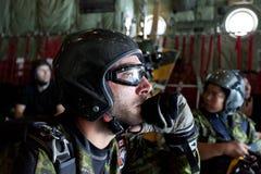 Salto canadese di pianificazione di Skyhawk (immersione subacquea di cielo) Fotografie Stock Libere da Diritti