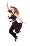 Salto caucásico de la cadera del baile del adolescente Fotos de archivo