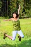 Salto com alegria Imagens de Stock Royalty Free