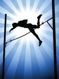 Salto con pértiga Foto de archivo libre de regalías