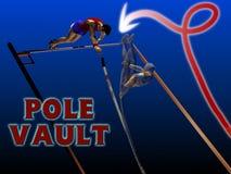 Salto con pértiga del atletismo Imagen de archivo libre de regalías