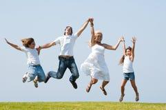 Salto da alegria Fotos de Stock Royalty Free