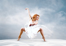 Salto da bailarina Imagem de Stock Royalty Free