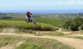 Salto da bicicleta Imagem de Stock