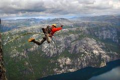 Salto da corda Menina entusiasmado Imagem de Stock