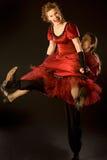 Salto da Dança-voogie Fotos de Stock